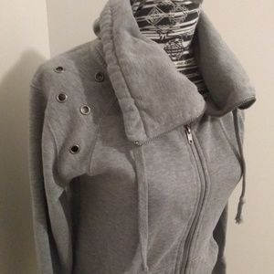 Hurley grey riveted zip up jacket